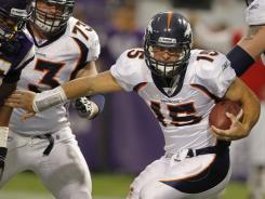 QB Tim Tebow is 6-1 in 2011 as the Broncos' starter.