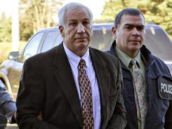 Jerry Sandusky is charged with sexually abusing eight boys over a 15-year period.