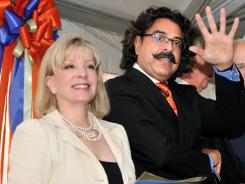 Prospective Jaguars owner Shahid Khan and his wife, Ann.