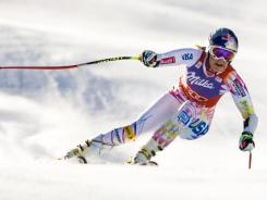 Lindsey Vonn competes during the women's super-G World Cup race on the Birds of Prey course at Beaver Creek Resort in Colorado. Vonn won the race.