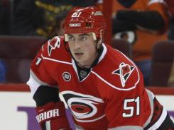 Carolina Hurricanes defenseman Tomas Kaberle had a minus 12 rating this season.