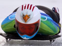 Katie Uhlaender, shown here at the 2010 Winter Olympics in Vancouver, was the last American woman to medal in a World Cup race, doing so on Feb. 12, 2009.