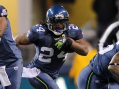 Marshawn Lynch eclipsed 100 yards rushing for the fifth time in six games and scored a TD for the ninth consecutive game.