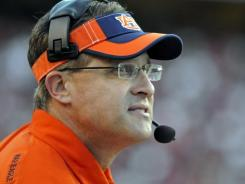 Auburn offensive coordinator Gus Malzahn appears poised to take the head coaching job at Arkansas State according to the AP.