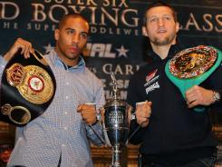 Andre Ward, left, and Carl Froch both hope to take home the inaugural Super Six World Classic trophy on Saturday night.