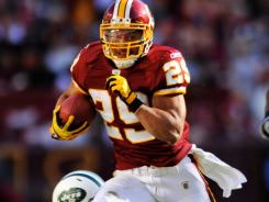 Washington Redskins running back Roy Helu  has a great chance for his fourth consecutive 100-yard game when he takes on the New York Giants in Week 15.