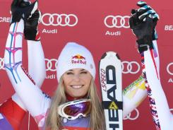 Lindsey Vonn of the USA wins a super-G  on Dec. 7 in Beaver Creek, Colo.