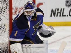 Brian Elliott made 25 saves, lowering his NHL-leading goals-against average to 1.43 and increasing his league-best save percentage to .950.