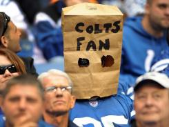 Colts fans are missing franchise quarterback Peyton Manning as the team remains winless.