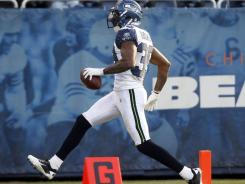 Seattle Seahawks cornerback Brandon Browner  returned an interception for a touchdown in the fourth quarter Sunday.