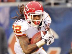 A man stole thousands of dollars from the home of Kansas City running back Dexter McCluster.