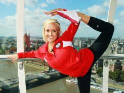 Nastia Liukin, posing in the London Eye during a tour of the city in September, won five medals at the 2008 Olympics in Beijing, including all-around gold.