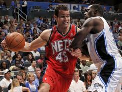Power forward Kris Humphries, left, will re-sign with the New Jersey Nets for a one-year, $8 million deal.