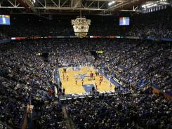 A general view of Rupp Arena during the game against the Kentucky Wildcats and St. John's Redmen.