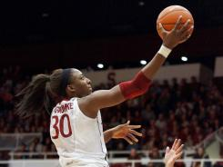 Stanford forward Nnemkadi Ogwumike (30) puts up a shot against Tennessee during the second half at Maples Pavilion in Stanford, Calif.