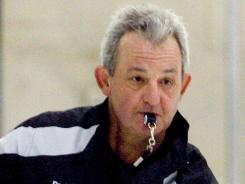 Darryl Sutter runs his first practice as Los Angeles Kings coach Wednesday.