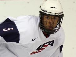 Seth Jones was projected to play the point on the USA power play at the world junior championships.