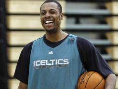 Celtics coach Doc Rivers says if Paul Pierce (above) plays, he'll likely come off the bench and have his minutes limited.