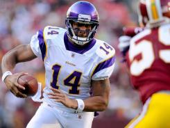 Joe Webb replaced the injured Christian Ponder at quarterback and led the Vikings to a 33-26 win over the Redskins.