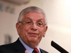 NBA Commissioner David Stern had a busy Sunday, first showing up as the Dallas Mavericks got their championships rings, then going to Oklahoma City for the Thunder's game against the Orlando Magic.