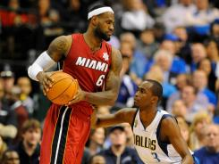 Miami Heat forward LeBron James, left, vows to make more of his size advantage this season.