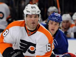 Philadelphia's Jaromir Jagr was booed when he played in Madison Square Garden on Friday.