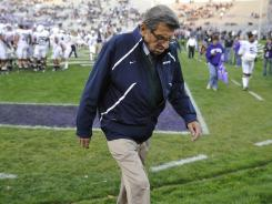 For better or for worse Penn State legend Joe Paterno was at the center of the sports story of the year..