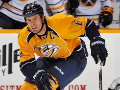 Predators defenseman Shea Weber has eight goals and 21 assists in 35 games this season.