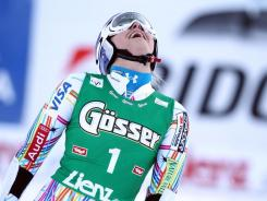 Lindsey Vonn of the USA in action during the Audi FIS Alpine Ski World Cup women's giant slalom on Wednesday in Lienz, Austria.