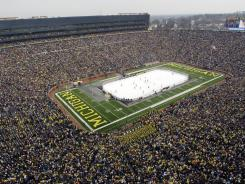 Michigan Stadium hosted the Big Chill between Michigan and Michigan State in December 2010.