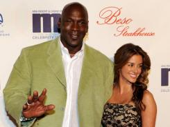 Michael Jordan is shown in late March in Las Vegas with now-fiancee Yvette Prieto.
