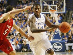 Kentucky forward Michael Kidd-Gilchrist, here against Lamar earlier this season, is averaging 13.5 points, 6.8 rebounds and 2.2 assists a game.