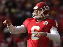 Chiefs kicker Ryan Succop (6), seen here making a field goal  against the Packers on Dec. 18, has signed a five-year extension worth $14 million, the Associated Press reports.