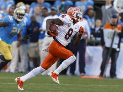 Illinois wide receiver A.J. Jenkins outruns the UCLA defense for a touchdown during the fourth quarter. The Fighting Illini won their second consecutive bowl game, beating the Bruins at AT&T Park.