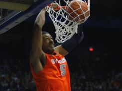 "Syracuse coach Jim Boeheim calls young center Fab Melo, a 7-foot sophomore from Brazil, ""one of the most improved players"" he's seen."