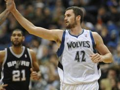 Kevin Love had game-highs of 24 points and 15 rebounds to lead the T'wolves to their second consecutive win after dropping the first three games of the season.