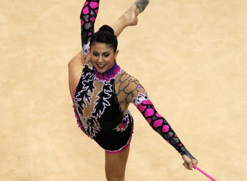 Rhythmic gymnastic finals during the pan american games on oct 18