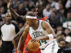 After a sluggish first half by the Celtics, Paul Pierce keyed a big third quarter as Boston pulled away against the New Jersey Nets.