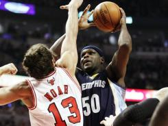 Memphis Grizzlies forward Zach Randolph, right, was injured in Sunday's game vs. the Chicago Bulls and could be out eight weeks.