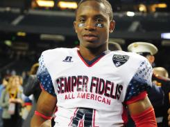Jaydon Mickens was named MVP of the inaugural Semper Fidelis All-American Bowl. The wide receiver from Dorsey High in Los Angeles scored the first TD in the West's 17-14 victory.