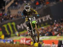 Ryan Villopoto. seen here  last April, enters Saturday's 2012 Supercross opener as the defending champion.
