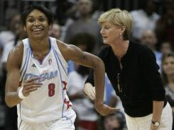 With Carol Ross, right, on staff, Iziane Castro Marques and the Atlanta Dream reached back-to-back WNBA Finals in 2010 and 2011.