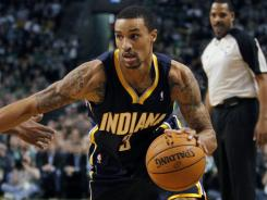 George Hill was one of six Pacers to score in double figures with 13 points as Indiana won in Boston for the first time since 2007.