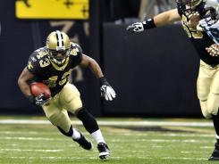 New Orleans Saints running back Darren Sproles set an NFL record for most all-purpose yards in a season against the Panthers in Week 17.