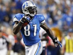 Detroit Lions wide receiver Calvin Johnson (81) during their game against the Chicago Bears in Detroit on Oct. 10, 2010.
