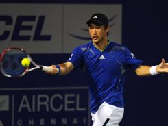 Go Soeda dispatched defending champion Stanislas Wawrinka to advance to the semifinals of the Chennai Open.