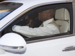Floyd Mayweather Jr. drove away from his attorney's office on Friday in his new Bentley, which runs around $300,000,