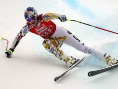 Lindsey Vonn speeds down the course during a World Cup super-G in Bad Kleinkirchheim, Austria, on Sunday.