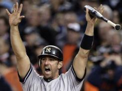 Jorge Posada, here during the 2011 playoffs, won five World Series titles in 17 seasons with the Yankees.
