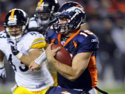 No one knows what is in store in Tim Tebow's future, but the polarizing quarterback will have the joy of a wild-card win over the Steelers.